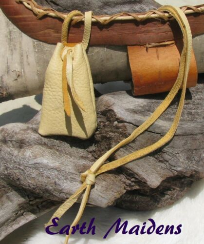Native American Medicine Bag/Pouch 2 3/4x1 1/2 Cherokee made William Lattie Cert