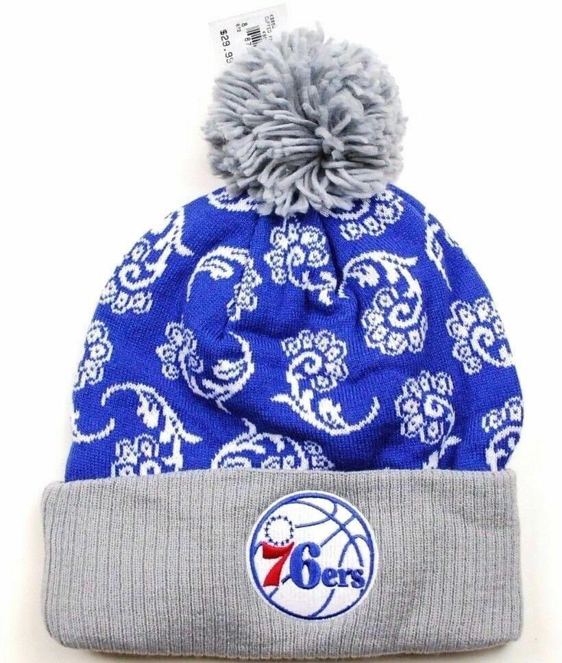 f03e8724f Philadelphia 76ers adidas Ks85w NBA Team Logo Knit Pom Basketball Hat Beanie