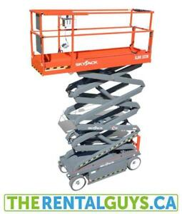 Scissor Lift Rentals - FREE DELIVERY and PICK UP !!!