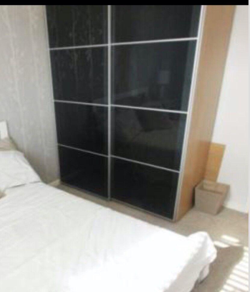 Wardrobe - Double Ikea Pax with Sliding doors