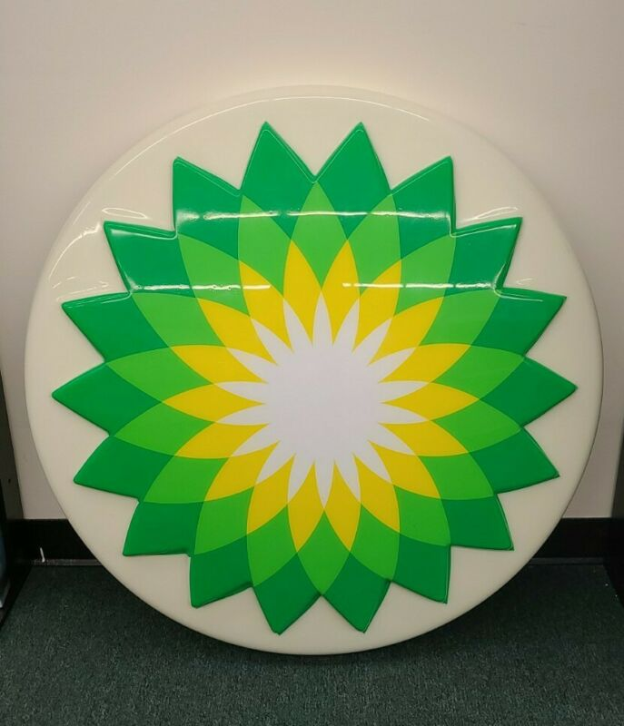 """British Petroleum BP Gas Station 36"""" Round Lighted Helios Advertising Sign"""