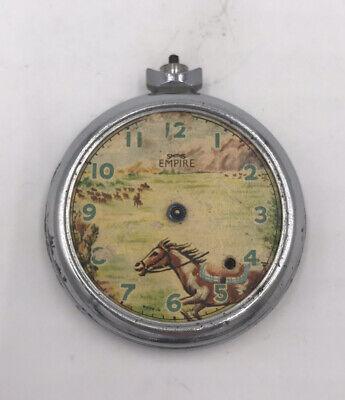 Vintage Rare Smiths Empire Horse Pocket Watch Repair Parts Watchmaker Britian