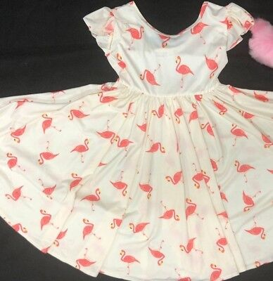 NWT Dot Dot Smile EMPIRE  Twirly Dress Summer Knit Girl Kids flamingo - Twirly Girl