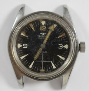 Vintage Technos Hand Wind Mechanic 17 Jewels First Diver? Mens Wrist Watch LOT#3