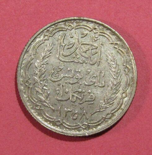 Tunisia 1939 10 Francs Silver Coin