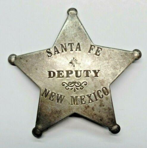 Vintage Santa Fe New Mexico Deputy Metal Badge