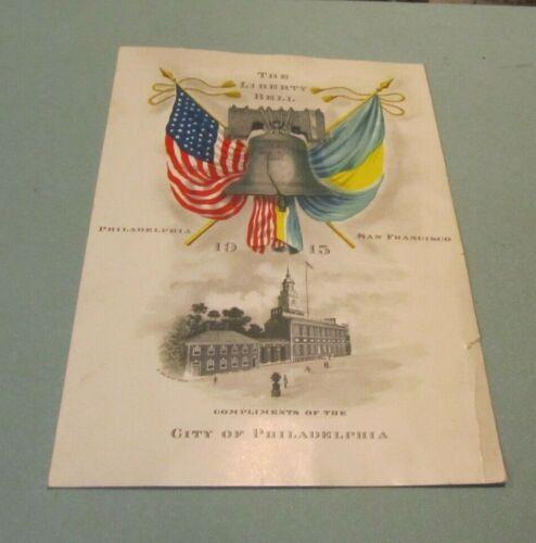 1915 The Liberty Bell Visits San Francisco Pan Pacific Exposition Souvenir Card