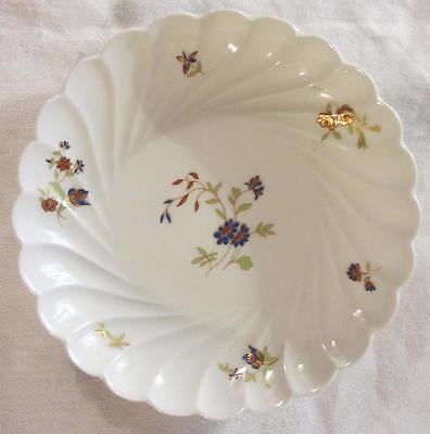"Old French Haviland Limoges Double Marked Scalloped Edge Round 5 1/8"" Dish"