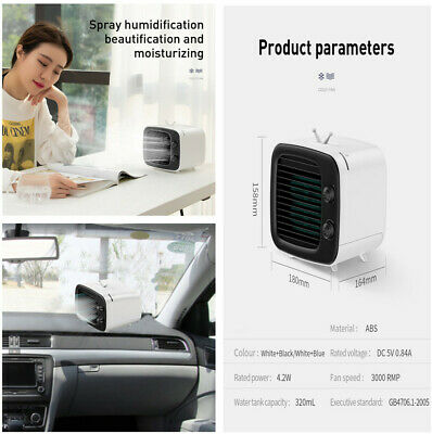 Portable Adjustable 3 Speed USB Car Home Air Conditioner Cooler Cooling Fan New, used for sale  China