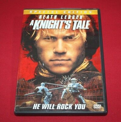 A KNIGHTS TALE (DVD, 2001, Special Edition) HEATH LEDGER ~ MOVIE + CASE