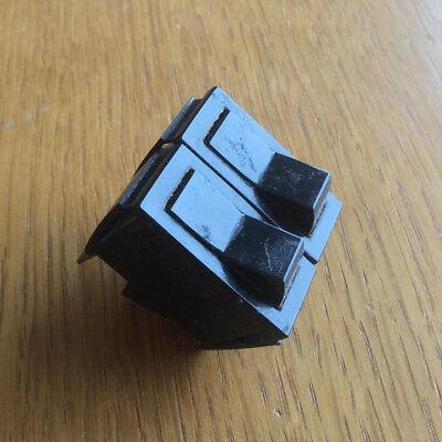 Twin Black Rocker Switch, 10A 250v, Heater, Toaster Electrical Appliance