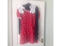 Ladies Minnie the mouse fancy dress costume size medium 12/14