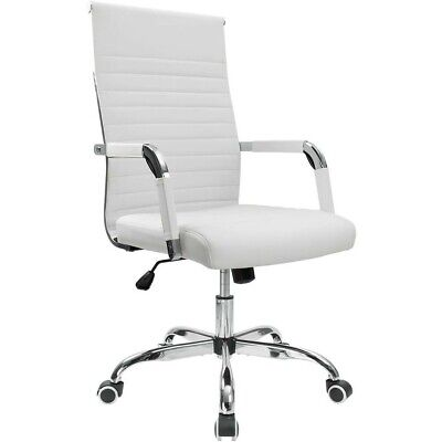 White Desk Chair Executive Office Gaming Computer Chairs Leather Working Stool