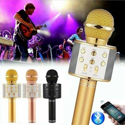 WS858 Wireless Bluetooth Microphone Karaoke KTV Handheld Mic USB Speaker Player-