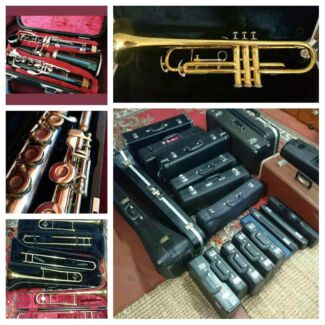 Flutes, clarinets, trumpets, trombones,  saxophones and more!