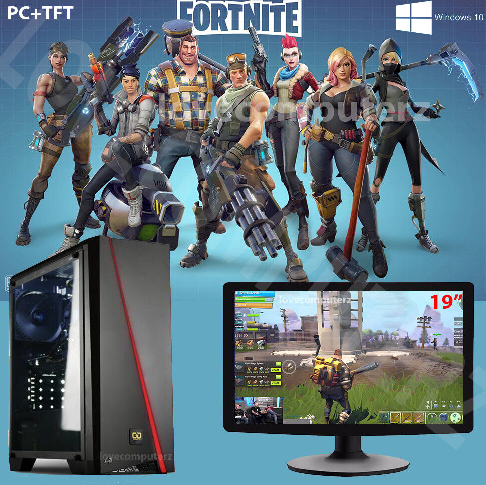 Computer Games - Fast Core i5 Gaming PC + Monitor Bundle 8GB RAM 1TB HDD Fortnite Computer