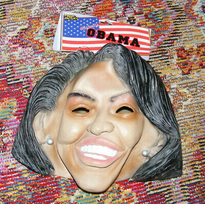 Obama Mask Halloween (New Michelle Obama Latex Halloween Mask First Lady 2007 Fright Factory BRAND)