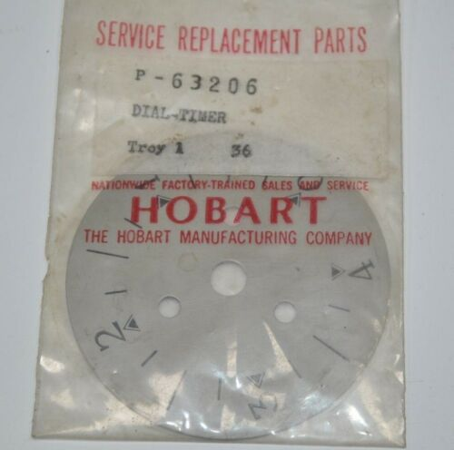 Hobart Timer Dial Part# P-63206  New Old Stock Vintage Part