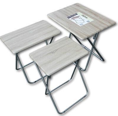 Folding Table Multi-Function TV Dinner Desk Occasional Wood Effect Wonder Mate