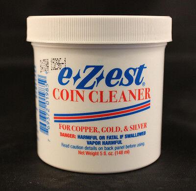 COIN CLEANER - E-Z-EST - COPPER, GOLD, SILVER - 5 Oz. Jar