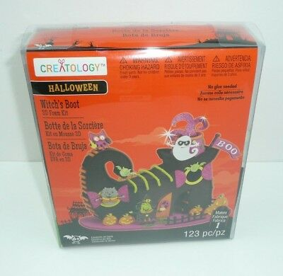 Halloween Witch's Boot 3D Foam Craft Kit House Project Holiday Scary Home House](Craft Foam Halloween Projects)