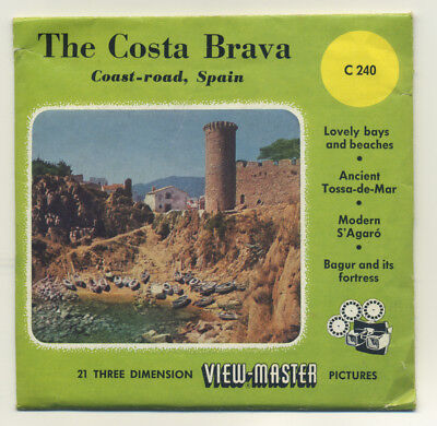 The Costa Brava Spain Belgium-made ViewMaster Packet C-240