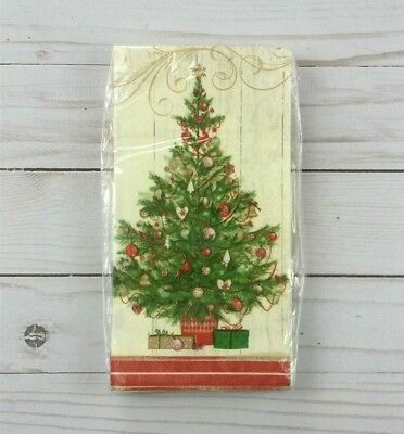 Paper Dinner Napkins Guest Towels Buffet Party 20 Ct Christmas Tree