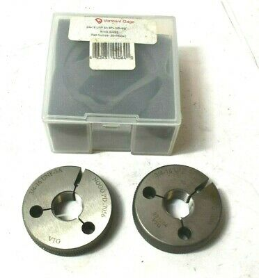 Vermont Thread Ring Gage Set 34-16 Unf-3a Go No-go Inspection Tool .7056 .7094