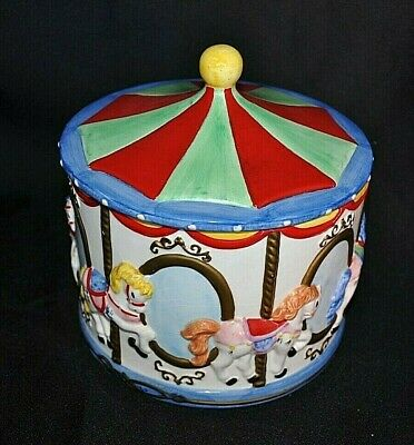 Cookie Jar Carousel With Horses Cookie Jar Collectible Kitchenware Collectible