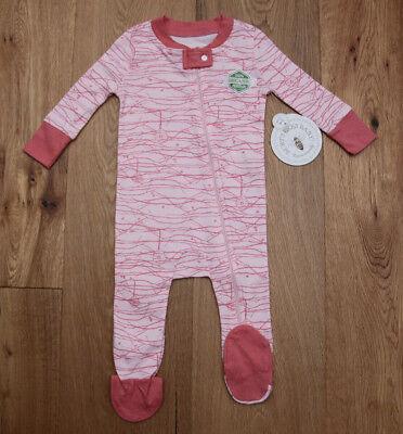 Burt's Bees Baby Girl Zip Up Coverall Sleeper Footie ~ Pink ~ Snug-Fit -