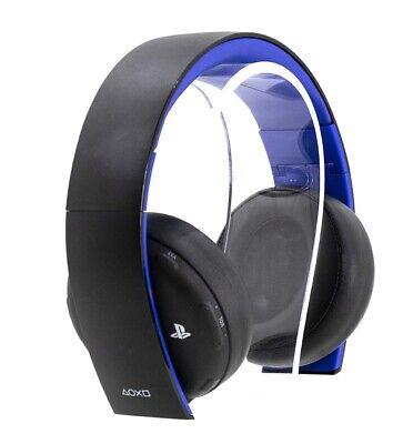 Sony PlayStation Gold Wireless Stereo Headphones (Black/Blue) 10029