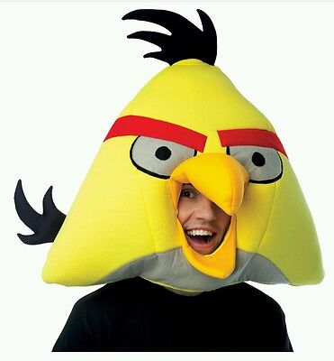 Angry Birds Adult NEW Yellow Bird Head Mask. Great For Any Occasion !!! - Angry Bird Costumes For Adults