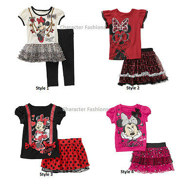 MINNIE MOUSE 12 18 24 Mo 2T 3T 4T 5T SHIRT TOP TEE SKIRT TUNIC Set Outfit DISNEY (Minnie Mouse Outfit 2t)