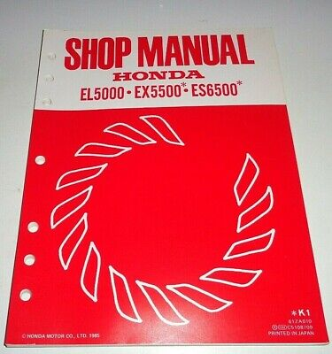 Honda El5000 Ex5500 Es6500 Generator Service Shop Repair Manual Original