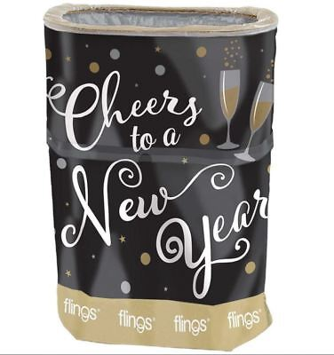 NEW New Years Eve Party Cheers Flings Disposable Pop Up Trash Bin Winter Dinner
