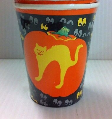 Cat Party Disposable 9oz Paper Cups (Halloween Fraidy Cat)