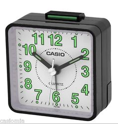 Casio TQ140-1B Travel Desk Quartz Alarm Clock Neobrite Resin Case Small Portable