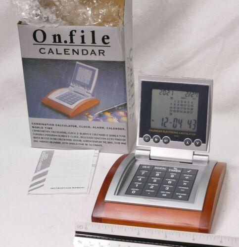 Clock, Calendar, Alarm Clock, World Time, Desk Clock, Shelf, Bedside - NOS