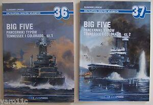 Set of Big Five. American Tennessee and Colorado-Battleships pt. 1,2 - Aj Press - <span itemprop='availableAtOrFrom'>Reda, Polska</span> - Zwroty są przyjmowane - Reda, Polska