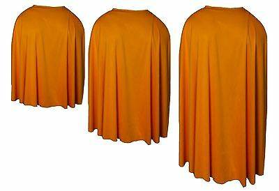 Orange Custom Made Super Hero Cape Fancy Dress (Custom Made Hero Kostüme)