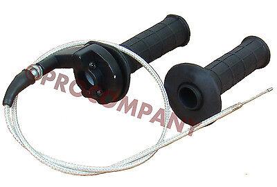 "Throttle Cable Twist Grip Set Fits: XR/CRF50 70 50-125cc dirt bike 7/8""Handlebar"