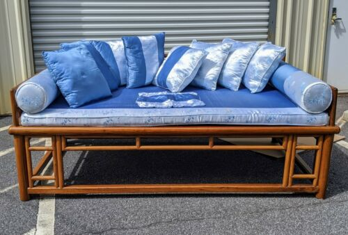 Mattress Pad, Pillows and 2 sets of COVERS ONLY for Chinese Lohan Opium Daybed