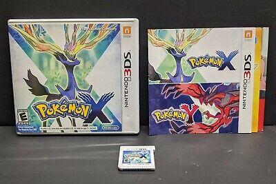 Pokemon X (Nintendo 3DS, 2013) Complete