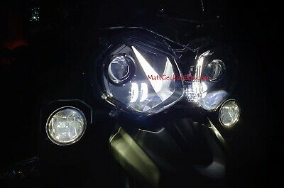 Triumph TIGER  - LED Projection Headlight  ...  NEW MOD!