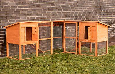 Hühnerstall Hasenstall XXL Kleintierstall mit Auslauf Kaninchenstall