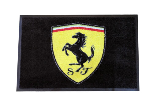 Ferrari Shield Floor Mat, Black