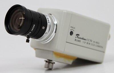Rainbow Bl58d Cctv Hi-res 13 Bw Ccd Camera W 6mm 11.4 C 12 M30.5 Lens
