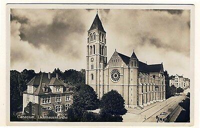 STUTTGART-CANNSTATT Liebfrauenkirche / Wildunger Strasse * Foto-AK um 1930