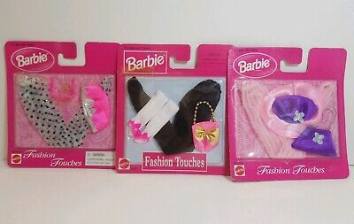 Vtg Barbie 1998 Fashion Touches Accessories Tights Purses Etc New Sealed