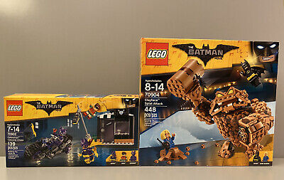 LEGO Batman Movie 2 Set Lot 70902 70904  CatWoman and ClayFace